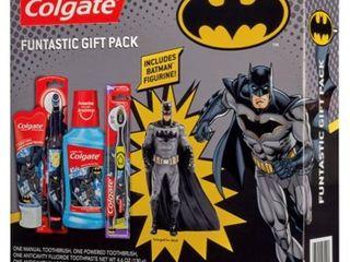 Colgate Kids Toothbrush  Toothpaste  Mouthwash  and Kid Toy Set  Batman