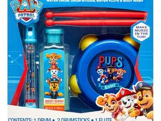 PAW Patrol 4 Piece Musical Tub Tunes Bath Set with Drum and Flute