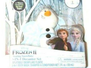 Disney Frozen Ii Olaf Floating leaf 3 in 1 Body Wash Shampoo Decanter Set