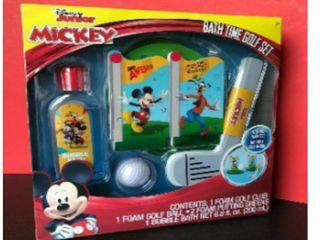 Disney Junior Mickey Bath Time Bubble Bath Dart Ball Set Bath Time Fun Box Set