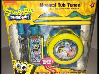Spongebob Squarepants Musical Tub Tunes Nickelodeon Drum  Flute Body Wash