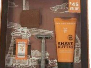 Van Der Hagen Safety Razor Shave Set Gift Kit Shave lotion Butter 5 Replacement