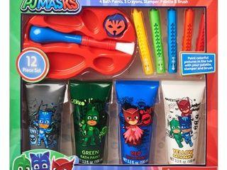 PJ Masks 12 Piece Bath Time Paint and Crayon Activity Set