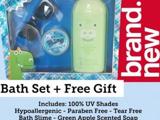 3 In 1 Bath Set  3 in1 Shampoo  Conditioner and Body Wash with Sunglasses and Bath Slime