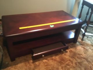coffee table that extends up w/drawer