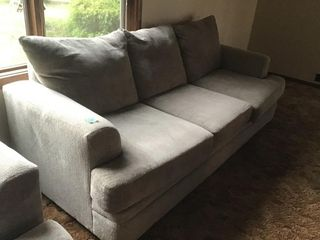 like new overstuffed couch, matches love seat