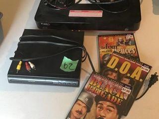 dish hopper, dvd player, movies