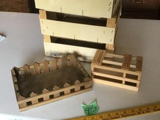 wood containers