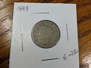 1893 V nickel