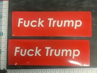 Lot of two anti-Trump bumper stickers