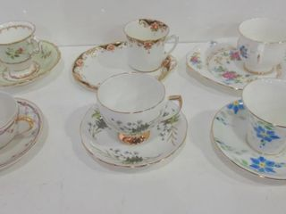 TEACUPS AND SAUCERS  PAIR OF lUNCHEON SETS