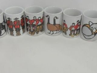 SET OF COFFEE MUGS DESIGNED BY CANADIAN ARTIST