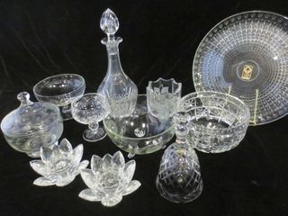 CRYSTAl   ASSORTED PATTERNS   BOWlS  BEll  CANDlE
