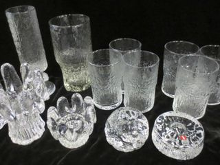IITAlA DRINKING GlASSES AND CANDlE HOlDERS