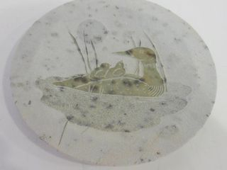 CARVED STONE PlATE   7  ACROSS