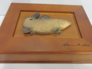 WEST COAST ART WOOD BOX SIGNED ClARENCE A WEllS