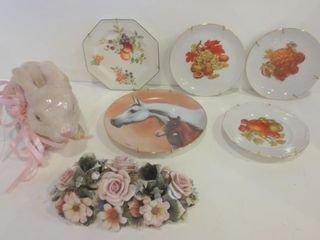 COllECTOR PlATES  ONE SIGNED FRED STONE  PORCElAIN
