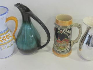BlUE MOUNTAIN POTTERY AND SPANISH POTTERY PITCHERS