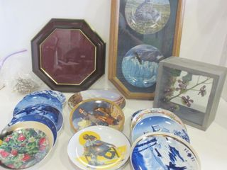 COllECTOR PlATES  FlORAl SHADOW BOX