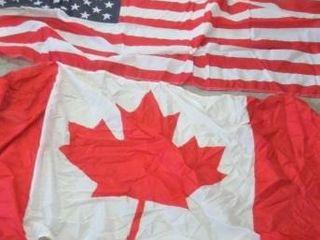 FlAGS   QUEBEC  CANADIAN UNION JACK  ENGlAND  US