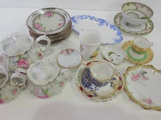 CHINA   ASSORTED   SET OF 7 HANDPAINTED 6  PlATES