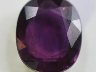 ONE OVAl MIXED CUT NATURAl PURPlE SAPPHIRE