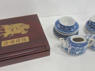 MINIATURE TEA SET  YEAR OF THE TIGER DISPlAY BOX