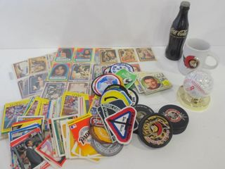 COCA COlA VINTAGE FlASHlIGHT  SPORTS CARDS