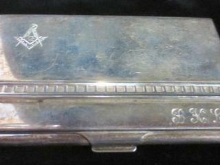 BIRK S STERlING CIGARETTE CASE   MONOGRAMMED   64G