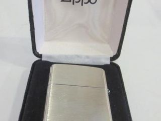 STERlING ZIPPO lIGHTER IN ORIGINAl BOX   2005