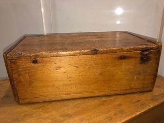 ANTIQUE PINE SMAll STORAGE BOX
