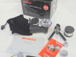 MINOX DIGITAl ClASSIC CAMERA 14 0 WITH ACCESSORIES