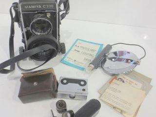 MAMIYA C330 PROFESSIONAl CAMERA AND MAMIYA SUPER