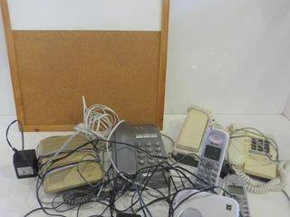 PUSH BUTTON DESK PHONES  AT T CORDlESS PHONES
