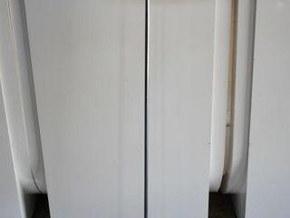 FlOOR lAMP W  OFF WHITE SHADE  57  H