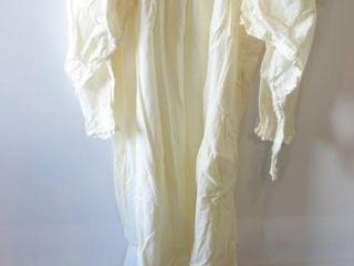 FUll lENGTH VINTAGE NIGHT DRESS W  PAIR OF SHRUGS