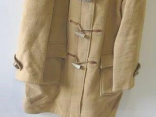 BURBERRY WOOl BlEND HOODED DUFFlE COAT AND CAP