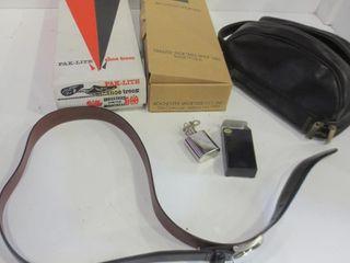 COWHIDE lEATHER BElT  SIZE 44  TRAVEl CASE  KEY
