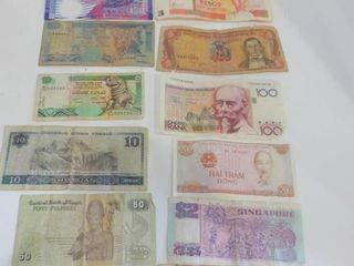 FOREIGN BANK NOTES   DOMINICAN REPUBlIC  SRI lANKA