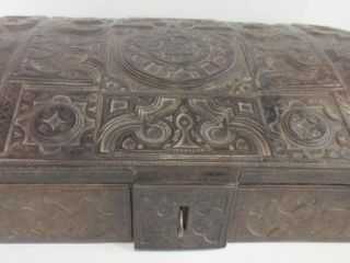 lEATHER COVERED WOOD BOX   23 X 15 X 7 H