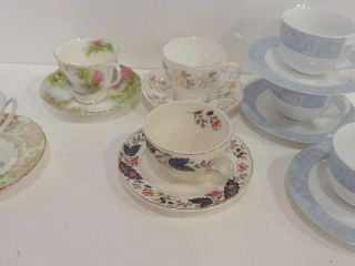 TEACUPS AND SAUCERS  ONE SET UNMATCHED
