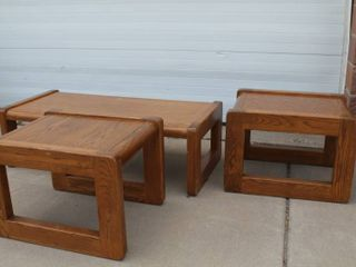Coffee Table And 2 Side Tables Set