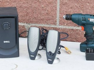 Computer Speakers And Drill Lot