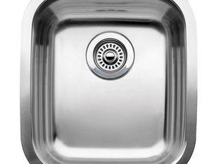 Blanco 510 879 Supreme 3 4 Single Bowl Kitchen Sink  Satin Polished Finish