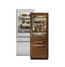 Monogram 30  Integrated Glass Door Refrigerator Panel Ready