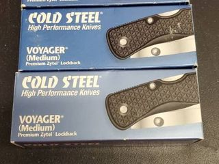 3  Cold Steel 29MCHS Voyager Clip Point Half Serrated Knife