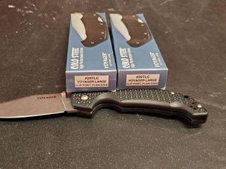 2 Cold Steel Voyager  29TlC Folding Knife
