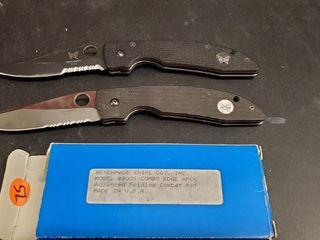 2  Benchmade Folding Knives