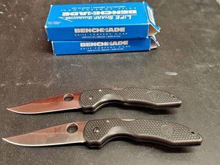 2  Benchmade 830  830S Folding Knives