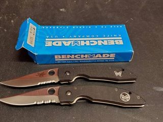 2  Benchmade 812S Folding Knives